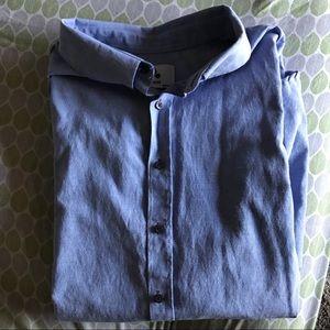 Button Up Light Blue Dress Shirt